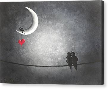 Goth Canvas Print - Love Birds by Oddball Art Co by Lizzy Love