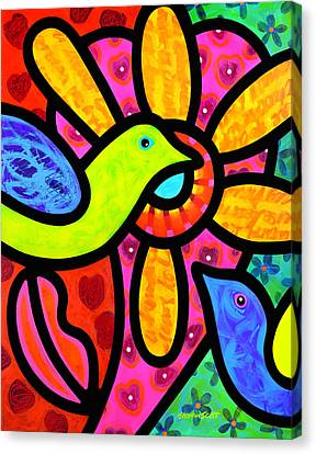 Love Birds Canvas Print by Steven Scott