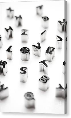 Stainless Steel Canvas Print - Love Biscuit Cutters by Tim Gainey