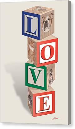 Love Blocks Canvas Print by Harold Shull