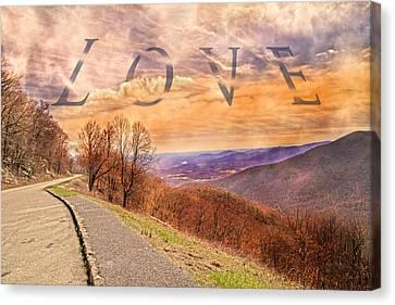Love Blue Ridge Parkway Canvas Print by Betsy Knapp