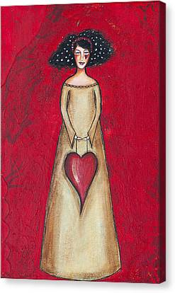 Canvas Print featuring the mixed media Love Bringer by Stanka Vukelic