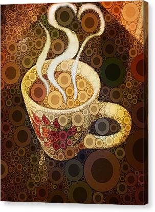 Heart Canvas Print - Love Coffee by Cindy Edwards