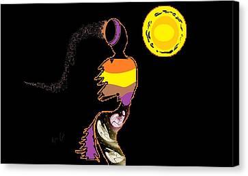 Canvas Print featuring the digital art Love Dance by Ann Calvo