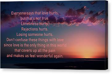 Love Doesn't Hurt Canvas Print by Li   van Saathoff