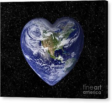 Love Earth Canvas Print by Delphimages Photo Creations