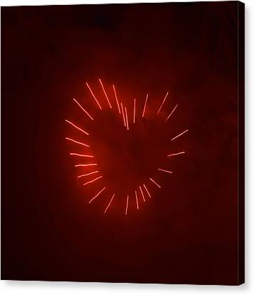 Canvas Print featuring the photograph Love Explosion by Linda Mishler