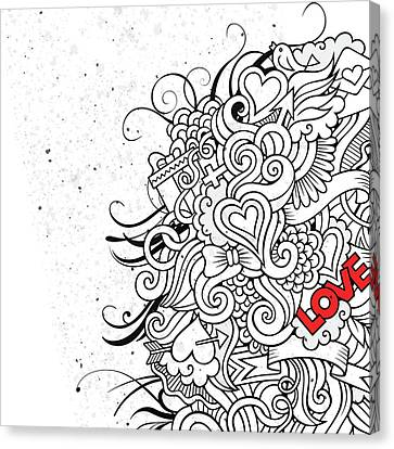 Love Flair Canvas Print by Bomo