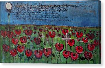 Love For Flanders Fields Poppies Canvas Print by Laurie Maves ART