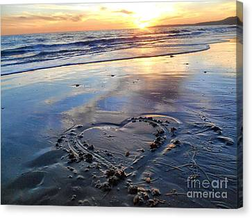 Love From The Bu Canvas Print by Patricia Pushaw