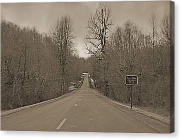 Turbulent Skies Canvas Print - Love Gap Blue Ridge Parkway by Betsy Knapp