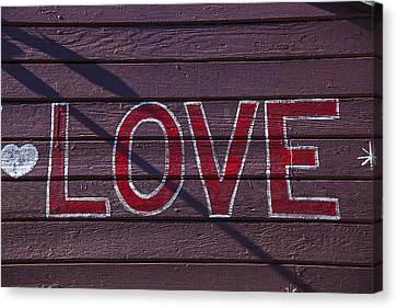 Love Canvas Print by Garry Gay