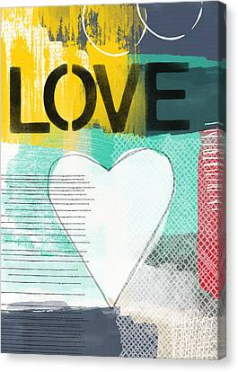 Love Graffiti Style- Print Or Greeting Card Canvas Print by Linda Woods