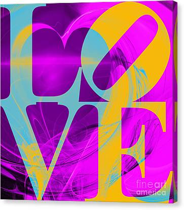 Valentimes Canvas Print - Love Heart 20130707 V1 by Wingsdomain Art and Photography