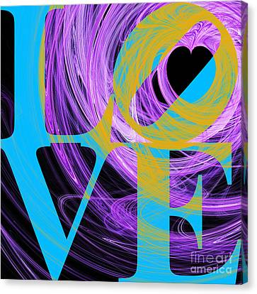 Valentimes Canvas Print - Love Heart 20130707 V2 by Wingsdomain Art and Photography
