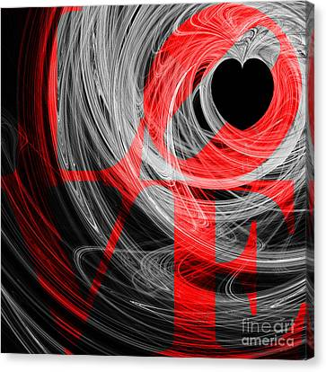 Valentimes Canvas Print - Love Heart 20130707 V2b by Wingsdomain Art and Photography