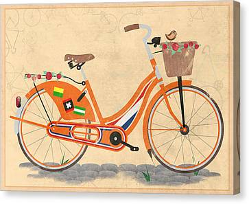 Love Holland Love Bike Canvas Print