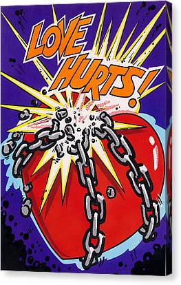 Love Hurts Canvas Print by MGL Studio