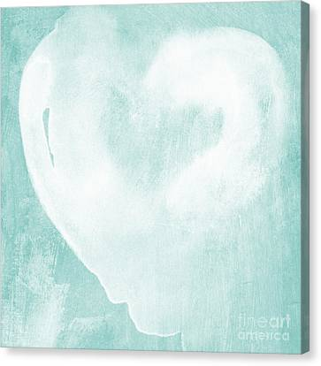 Love In Aqua Canvas Print by Linda Woods