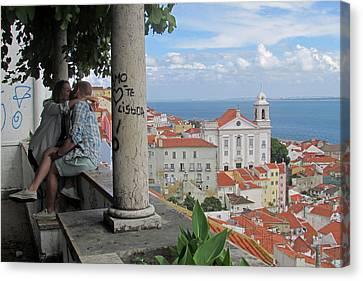 Love In Lisbon  Canvas Print