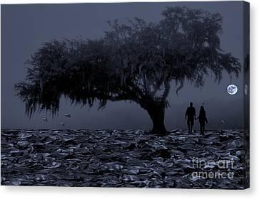 Love In Moon Light Canvas Print