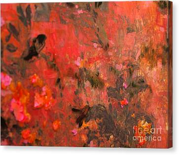 Love In Red 3 Canvas Print by Nancy Kane Chapman