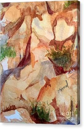 Love In The Rocks Medjugorje 2 Canvas Print by Vicki  Housel