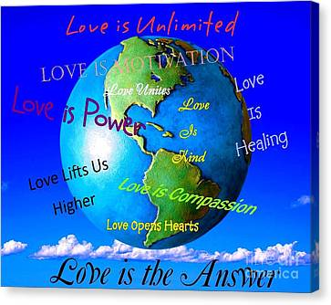 Canvas Print featuring the digital art Love Is. . . . by Bobbee Rickard
