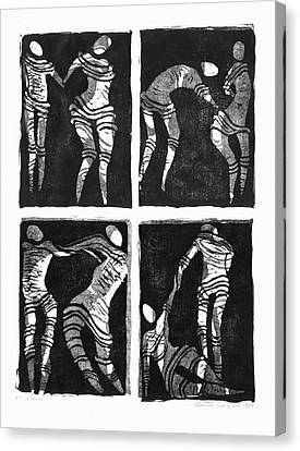 Linocut Canvas Print - Love Is A Dance by Gun Legler