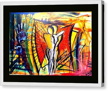 Love Is A Struggle Canvas Print by Andrew Varghese