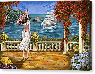 Canvas Print featuring the painting Love Is Coming Home by Tim Gilliland