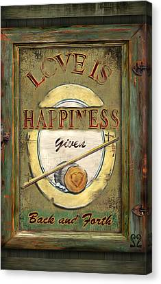 Love Is Happiness Canvas Print