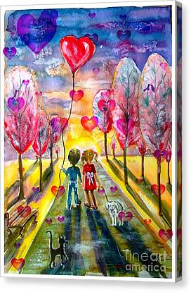 Love Is In The Air 2 Canvas Print