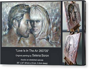 Canvas Print featuring the painting Love Is In The Air 260709 Comp by Selena Boron