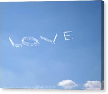 Canvas Print featuring the photograph Love Is In The Air by Jodi Terracina