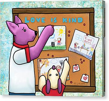 Love Is Kind Canvas Print by Yvonne Lozano