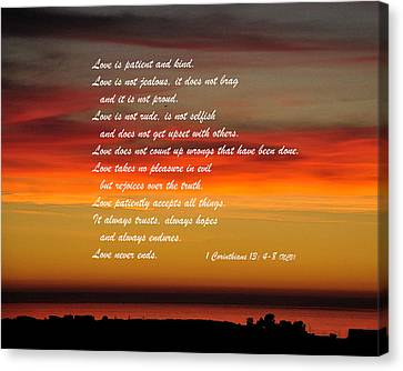 Love Is Patient Canvas Print by Kirt Tisdale