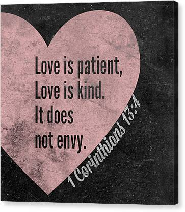 Love Is Patient Canvas Print by South Social Studio