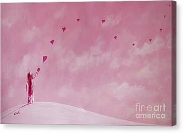 Love Is The Best Forever Gift Collection By Shawna Erback Canvas Print by Shawna Erback