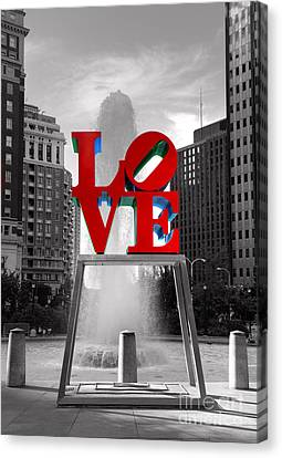Love Isn't Always Black And White Canvas Print