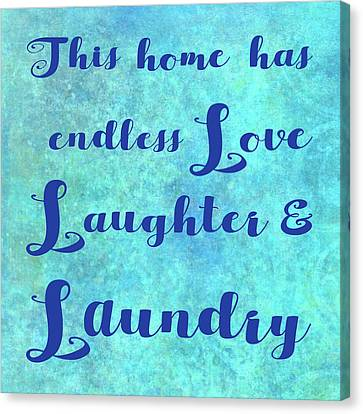 Love Laundry Canvas Print by Cora Niele