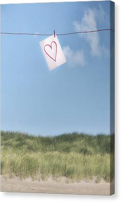 Clothes Line Canvas Print - Love Letter From Cloud 9 by Joana Kruse