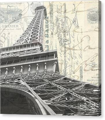 Love Letter From Paris Square Canvas Print by Edward Fielding