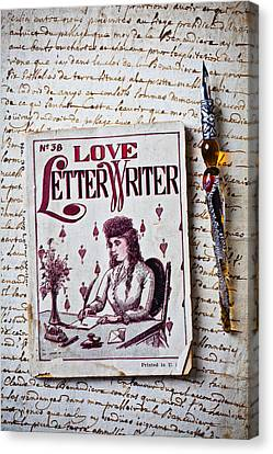 Love Letter Writer Book Canvas Print by Garry Gay