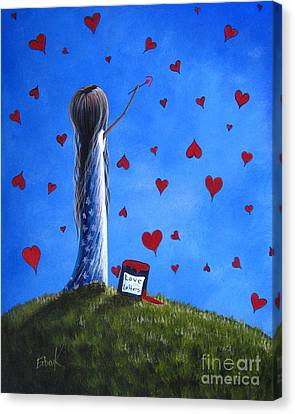 Love Letters By Shawna Erback  Canvas Print by Shawna Erback