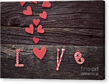 Red Letter Days Canvas Print - Love Letters by Mythja  Photography