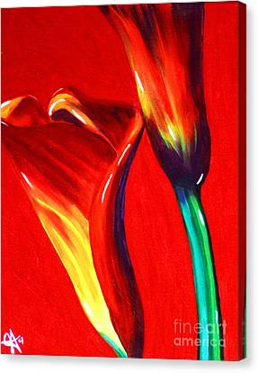 Love Lilies Canvas Print by Jackie Carpenter