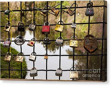 Love Locks Canvas Print by Juan Romagosa