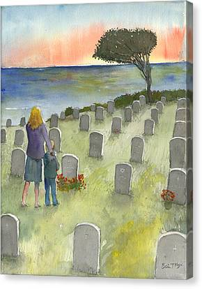 Love Lost By A Setting Sun Canvas Print