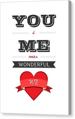 Love Lyrics Quotes Typography Quotes Poster Canvas Print by Lab No 4 - The Quotography Department